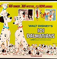 101 Dalmatas 1961 cartel de usa